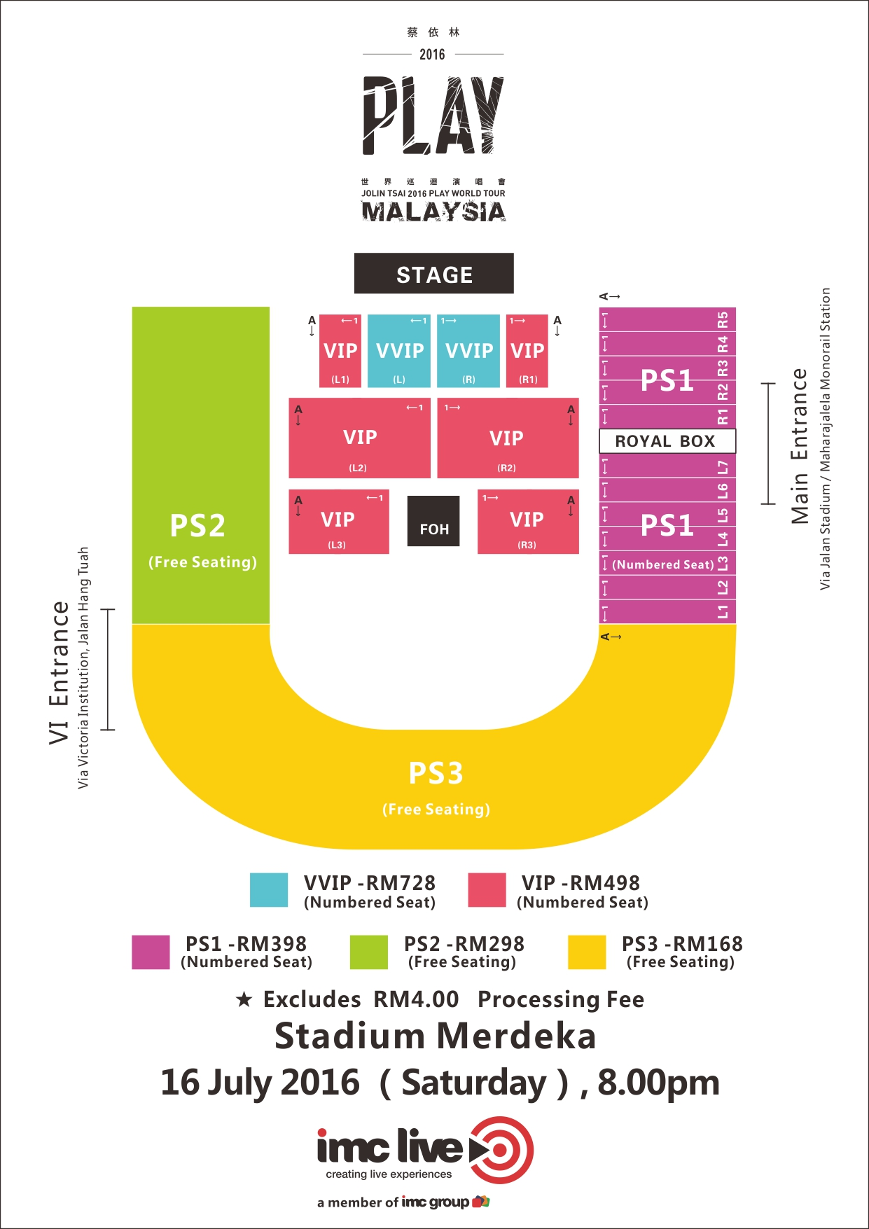 Jolin Seating Plan