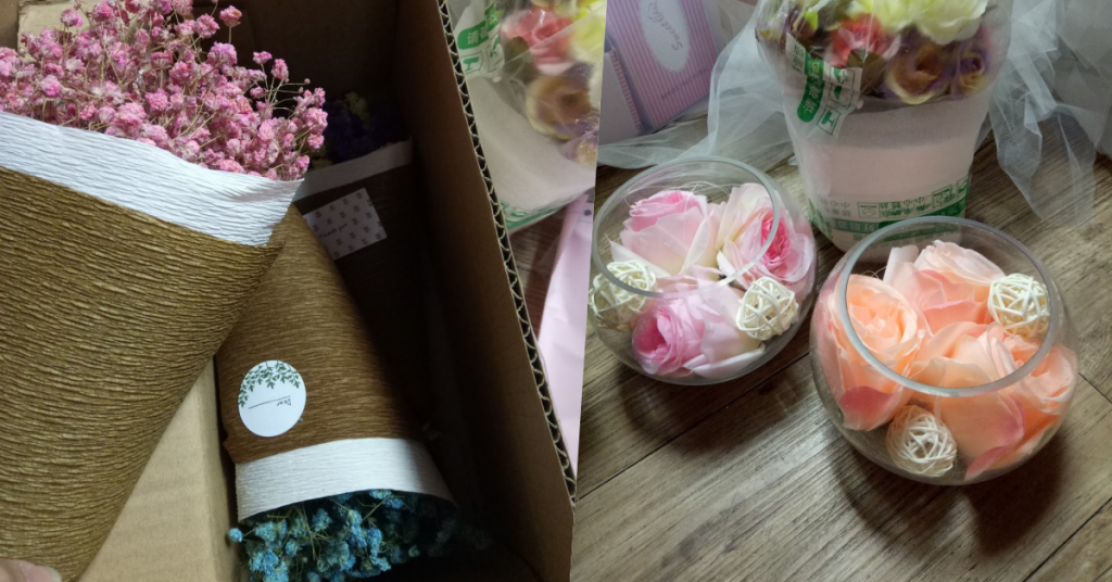 taobao: mini flower bouquet
