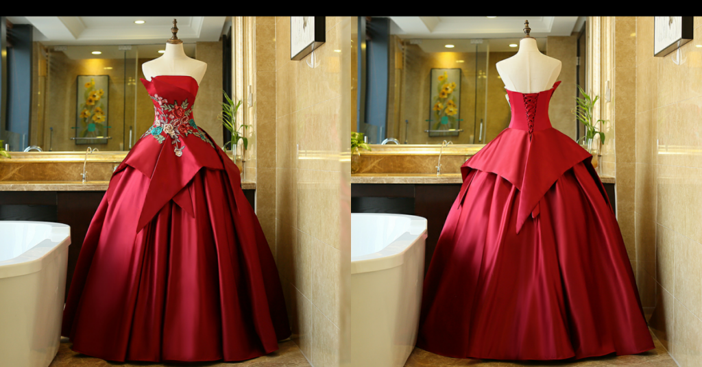 taobao: long red wedding gown 2