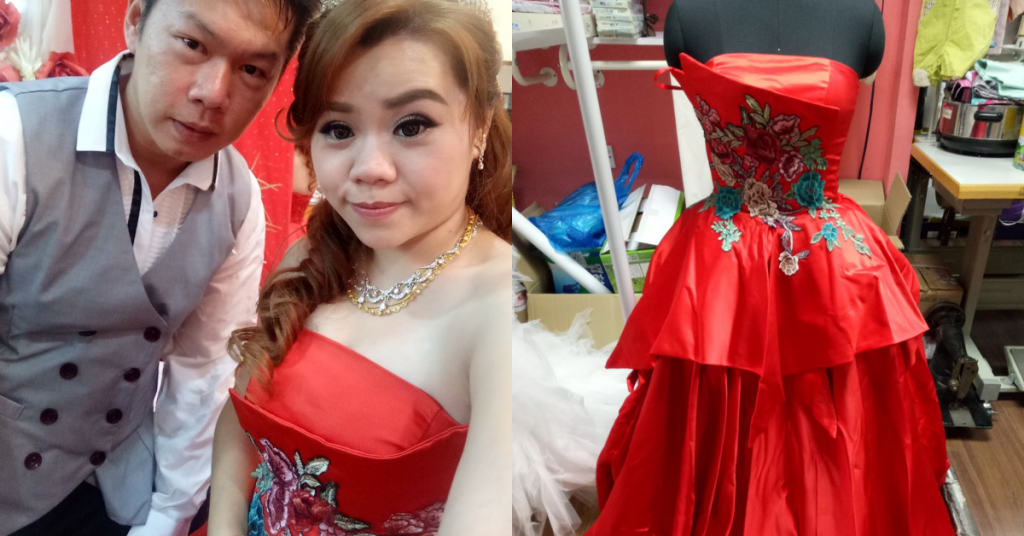 taobao: long red wedding gown 3