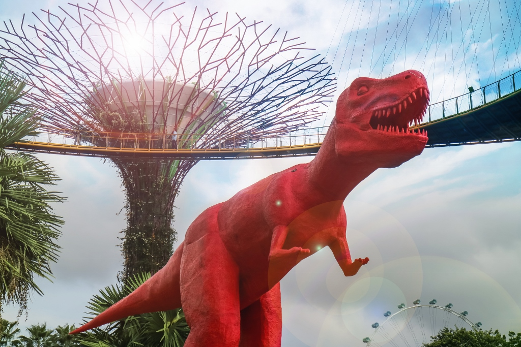 A Total Of 11 Foam And Silicone Dinosaur Sculptures Which Are At Least 2m  High Will Be Installed In The Gardens For The Festival. The Sculptures  Include The ...